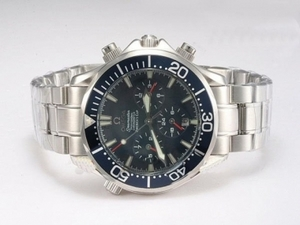 Gorgeous Omega Seamaster Americas Cup Chronograph Automatic with Blue Dial AAA Watches [W2N7]
