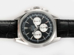 Gorgeous Omega Seamaster Chronograph Automatic with Black Dial AAA Watches [H3P8]