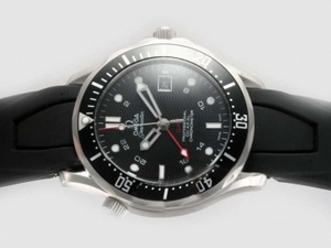 Gorgeous Omega Seamaster GMT Working Automatic with Black Dial AAA Watches [W1T6]