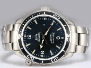 Gorgeous Omega Seamaster Planet Ocean Automatic with Black Dial AAA Watches [C8R1]