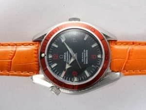 Gorgeous Omega Seamaster Planet Ocean Automatic with Orange Bezel AAA Watches [F3F1]