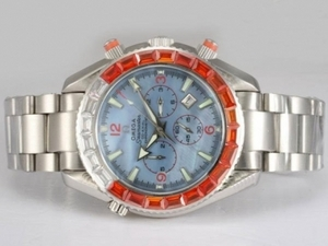 Gorgeous Omega Seamaster Planet Ocean Chronograph Automatic Square Diamon AAA Watches [H8J8]