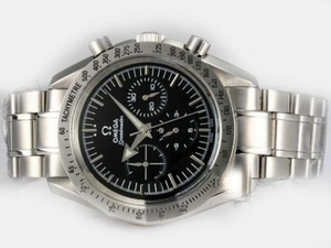 Gorgeous Omega Speedmaster Chronograph Automatic met zwarte wijzerplaat AAA Watches [J2H4]