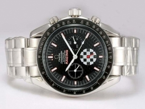 Gorgeous Omega Speedmaster Racing Chronograph Automatic met zwarte wijzerplaat AAA Watches [U6A2]