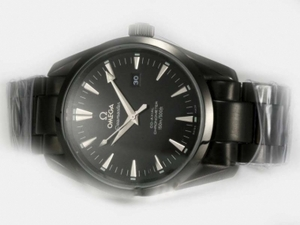 Great Omega Seamaster Aqua Terra Big Size Automatic Full PVD with Black Dial AAA Watches [H5C5]