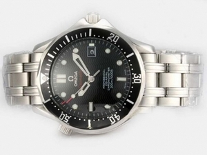 Great Omega Seamaster Automatic with Black Dial and Bezel AAA Watches [M4O5]