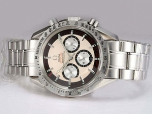 Great Omega Speedmaster Chronograph Automatic White Dial AAA Watches [U5F3]