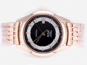 Modern Omega Hour Vision See Thru Case Automatic Full Rose Gold AAA Watches [W4H1]