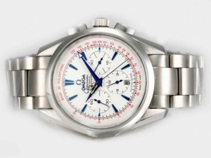 Modern Omega Seamaster Chronograph Automatic with White Dial-Olympic Edition AAA Watches [R4K8]