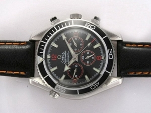 Modern Omega Seamaster Planet Ocean Chronograph Automatic with Black Bezel AAA Watches [G5G9]