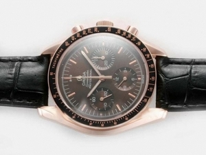 Modern Omega Speedmaster Chronograph Lemania Movement with Black Dial AAA Watches [N3I1]