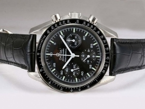 Modern Omega Speedmaster Chronograph Lemania Movement with Black Dial AAA Watches [R2M5]