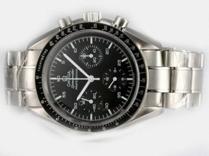Modern Omega Speedmaster Chronograph Lemania Movement with Black Dial AAA Watches [O1R1]
