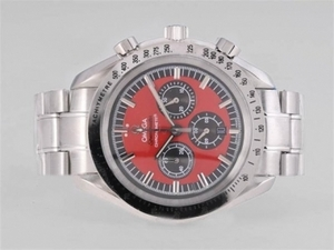 Modern Omega Speedmaster M-Schmacher Working Chronograph with Red Dial AAA Watches [N9U9]