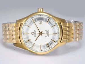 Perfect Omega Hour Vision See Thru Case Automatic Full Gold with White Dial AAA Watches [V2T4]