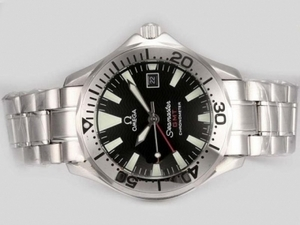 Perfect Omega Seamaster GMT Working with Black Dial AAA Watches [W7I8]