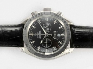 Perfect Omega Speedmaster Working Chronograph with Black Dial AAA Watches [H3X3]