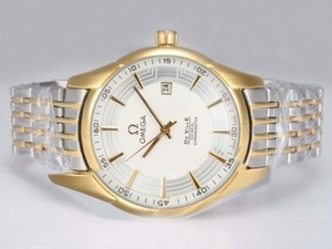 Popular Omega Hour Vision See Thru Case Automatic Two Tone with White Dial AAA Watches [N5G4]