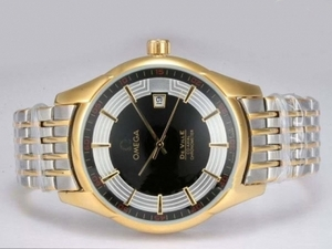 Popular Omega Hour Vision See Thru Case Automatic Two Tone with Black Dial AAA Watches [H1D2]