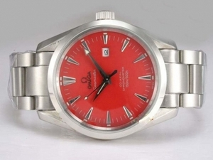 Popular Omega Seamaster Aqua Terra Big Size Automatic with Red Dial AAA Watches [O7D2]