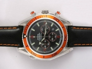Popular Omega Seamaster Planet Ocean Working Chronograph with Orange Bezel AAA Watches [G4X8]