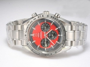 Popular Omega Speedmaster Chronograph Automatic with Red Dial AAA Watches [A9I6]