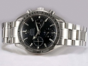 Popular Omega Speedmaster Chronograph Lemania Movement with Black Dial AAA Watches [I4S3]