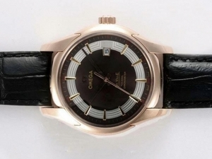 Quintessential Omega Hour Vision See Thru Case Automatic Rose Gold Case AAA Watches [O3E4]