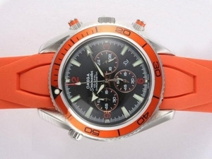 Quintessential Omega Seamaster Planet Ocean Working Chronograph with Orange Bezel AAA Watches [C9D5]