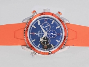 Quintessential Omega Seamaster Planet Ocean Working Chronograph with Orange Bezel AAA Watches [S3L2]