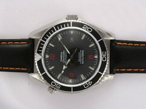 Quintessential Omega Seamaster Planet Ocean Automatic with Black Bezel and Dial AAA Watches [W2K7]