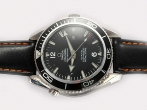 Quintessential Omega Seamaster Planet Ocean Automatic with Black Bezel and Dial AAA Watches [X4F8]