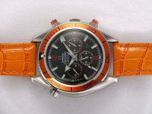 Quintessential Omega Seamaster Planet Ocean Chronograph Automatic with Black Dial AAA Watches [O2R5]