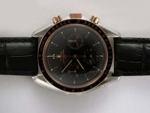 Quintessential Omega Speedmaster Chronograph Lemania Movement Two Tone Case AAA Watches [A2R5]