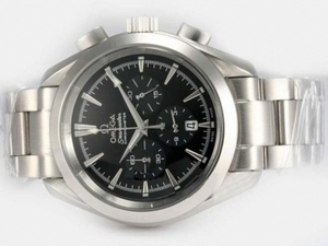 Quintessential Omega Speedmaster Racing Working Chronograph with Black Dial AAA Watches [O2O8]