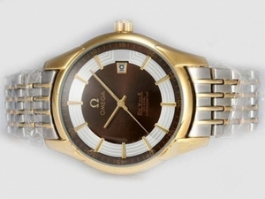Vintage Omega Hour Vision See Thru Case Automatic Two Tone with Brown Dial AAA Watches [D3K6]