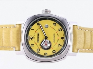 Cool Panerai Ferrari Automatic with Yellow Dial and Strap AAA Watches [H6F3]