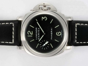 Cool Panerai Luminor Marina Swan Neck Unitas 6497 Movement with Black Dial AAA Watches [O2E1]