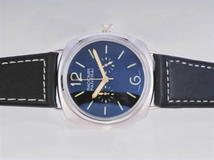 Fancy Panerai Radiomir Working Chronograph with Blue Dial-New Version AAA Watches [V4E6]