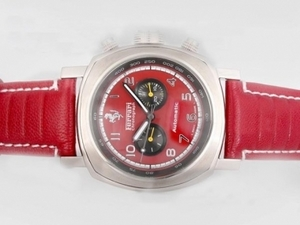 Gorgeous Panerai Ferrari Rattapante Chronograph Automatic with Red Dial AAA Watches [G8L9]
