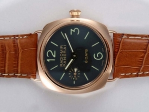 Gorgeous Panerai Radiomir 8 Days Unitas 6497 Movement Manual Winding AAA Watches [V3V9]