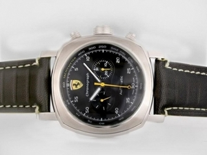 Great Panerai Ferrari Rattapante Chronograph Automatic with Black Dial AAA Watches [Q4W7]
