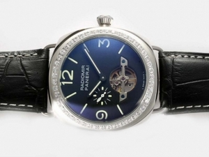 Great Panerai Radiomir Tourbillon Automatic Diamond Bezel with Blue Dial AAA Watches [X6D9]