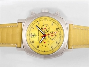 Perfect Panerai Ferrari Rattapante Chronograph Automatic with Yellow Dial AAA Watches [W2T7]