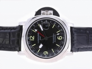 Popular Panerai Luminor GMT Automatic with Black Dial-40MM AAA Watches [H3S2]