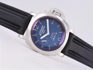 Popular Panerai Luminor PAM 233 8 Days GMT Automatic with Blue Dial AAA Watches [C6T1]