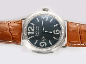 Vintage Panerai Radiomir Automatic Diamond Bezel and Marking with Black Dial AAA Watches [P9V5]