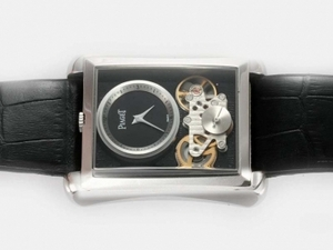Gorgeous Piaget Emperador Tourbillon Automatic with Black Dial-New Version AAA Watches [G6B4]