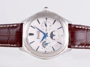 Great Piaget Emperador Coussin Chronograph Automatic with White Dial AAA Watches [K5V5]