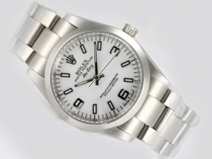 Cool Rolex Air-King Oyster Perpetual Automatic with White Dial AAA Watches [L3U9]